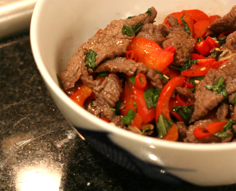 Nua Pad Prik (Thai Beef with Chili)