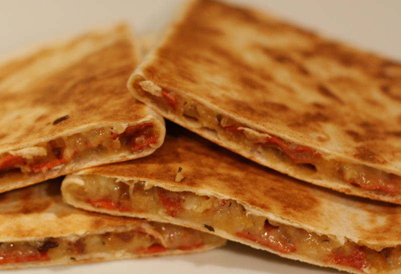 Chorizo and Potato Quesadillas