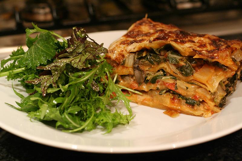 Swiss Chard and Portobello Mushroom Lasagne