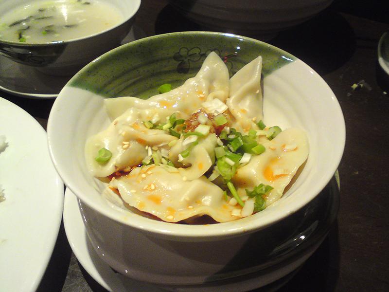 Chengdu Dumplings with Red Oil