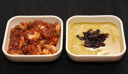 Prawn Patia and Tarka Dal