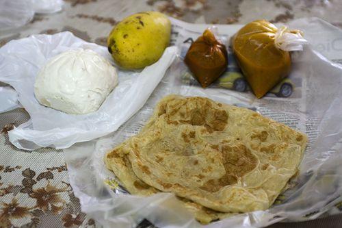 Roti Canai and Char Sui Pau