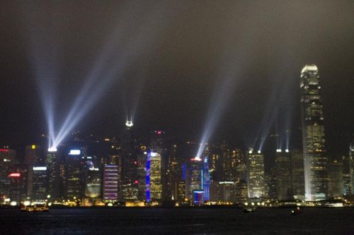 Hong Kong Islands not at all tacky light show