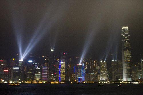 Hong Kong Islands not at all tacky light show