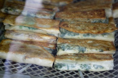 Spring Onion and Tofu Filled Flatbread