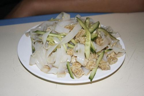 Cold Rice Noodles with Vinegar and Chili Oil