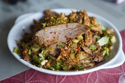 Cold Beef with Chili