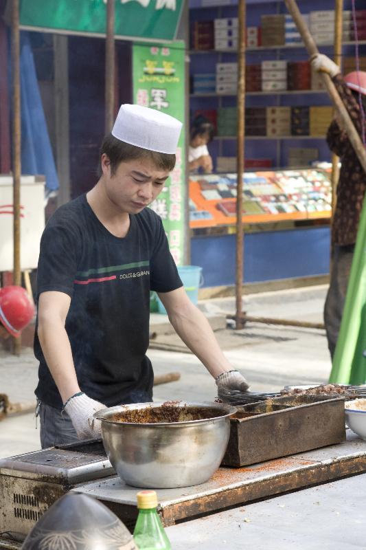 Chinese Muslim (Hui) Kebab Sellers
