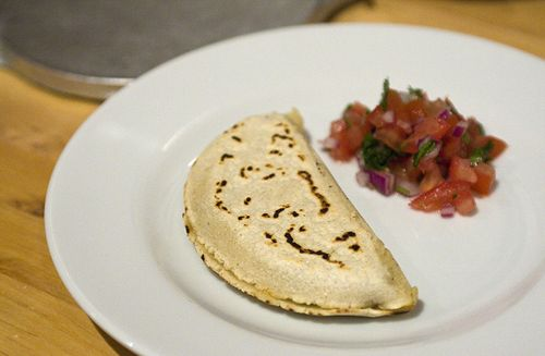 Masa Quesadillas with Mushroom and Roasted Chili
