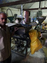 Flour mill and worker