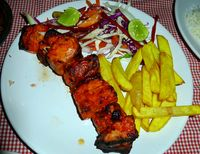 Tandoori sail fish and chips
