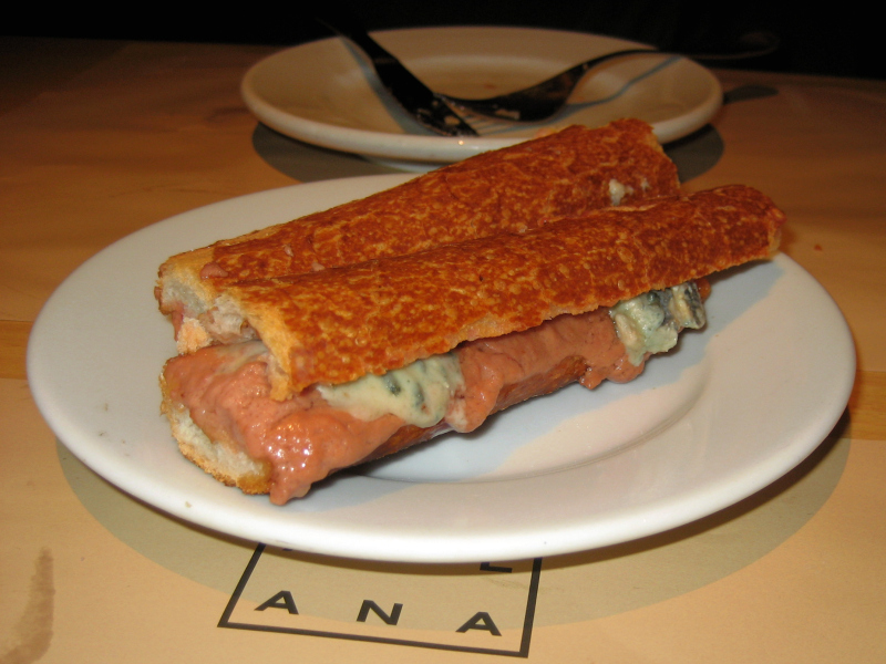 Fautas with Pate and Roquefort
