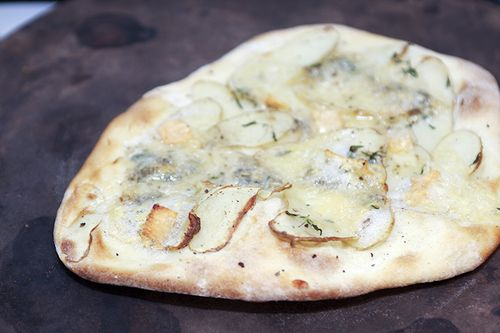 Potato, Gorgonzola and Thyme Pizza
