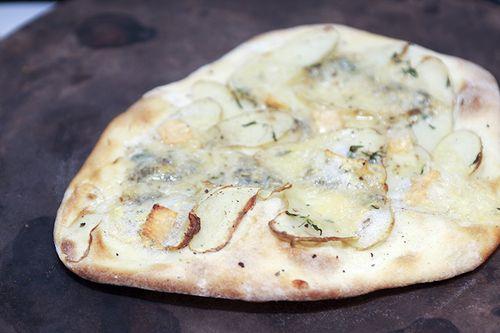 Potato, Gorgonzola and Thyme Pizza