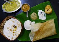 Banana leaf dosa