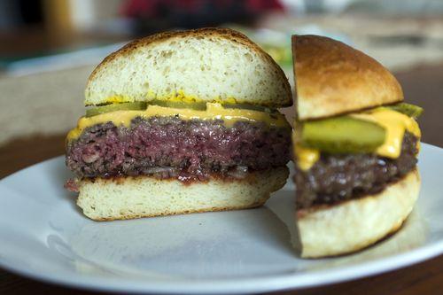Burger in a Potato Roll